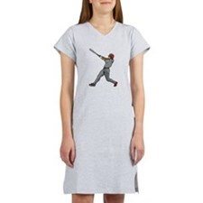 Left Handed Batter Women's Nightshirt
