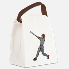 Left Handed Batter Canvas Lunch Bag