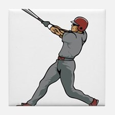 Left Handed Batter Tile Coaster