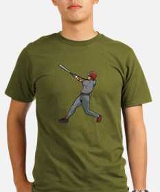 Left Handed Batter Organic Men's T-Shirt (dark)