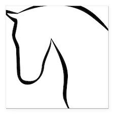 "horse Square Car Magnet 3"" x 3"""