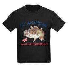 All american Walleye Fisherman T