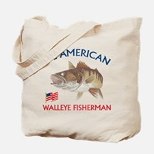 All american Walleye Fisherman Tote Bag