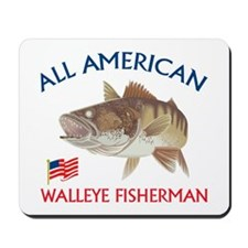 All american Walleye Fisherman Mousepad