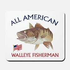 All american Walleye Fisherman Mousepad