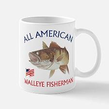 All american Walleye Fisherman Mug