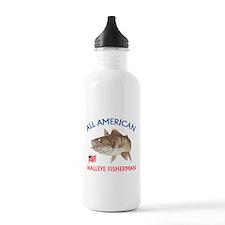 All american Walleye Fisherman Sports Water Bottle
