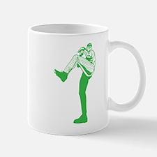 Green Tall Baseball Pitcher Mug