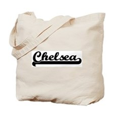 Black jersey: Chelsea Tote Bag