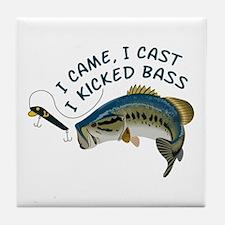 I Kicked Bass Tile Coaster