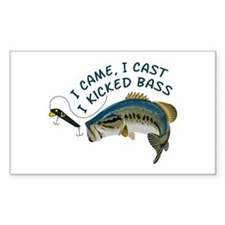 I Kicked Bass Decal