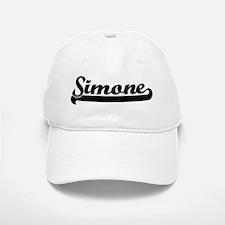 Black jersey: Simone Baseball Baseball Cap