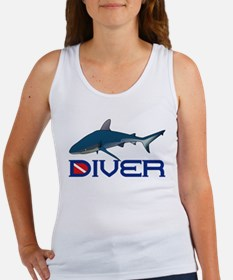Shark Diver Women's Tank Top