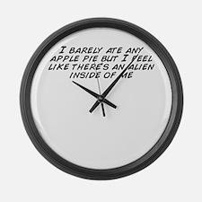 Funny I like pie Large Wall Clock