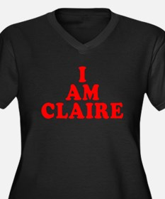 I Am Claire Women's Plus Size V-Neck Dark T-Shirt