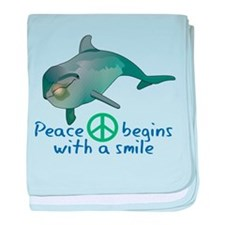 Peace Begins with a Smile baby blanket