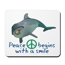 Peace Begins with a Smile Mousepad