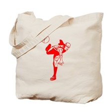 Red Baseball Pitcher Tote Bag