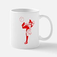 Red Baseball Pitcher Mug
