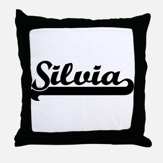 Black jersey: Silvia Throw Pillow