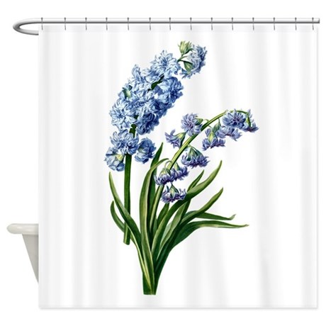 hyacinth drawn from nature shower curtain by birdsandflowers