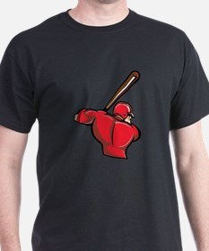 Red Baseball Batter T-Shirt