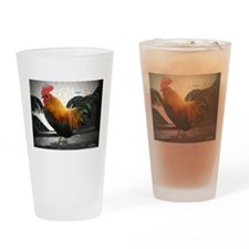 Bantam Rooster Drinking Glass