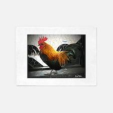 Bantam Rooster 5'x7'Area Rug