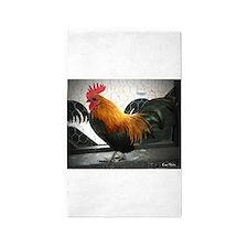 Bantam Rooster 3'x5' Area Rug