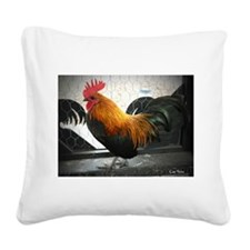 Bantam Rooster Square Canvas Pillow