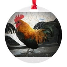 Bantam Rooster Ornament