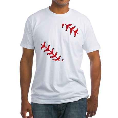 Baseball Close Up Fitted T-Shirt