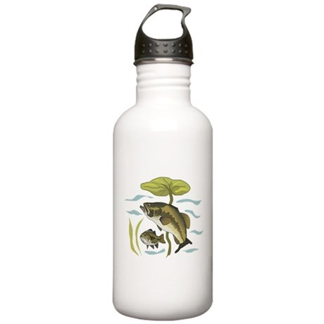 Bass Fishing Stainless Water Bottle 1.0L