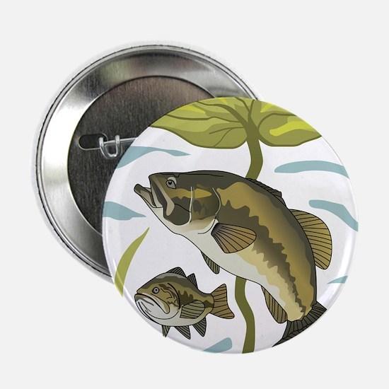 """Bass Fishing 2.25"""" Button"""