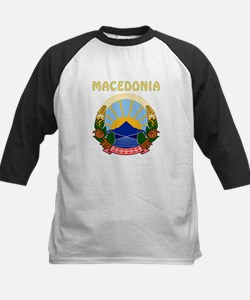 Macedonia Coat of arms Kids Baseball Jersey