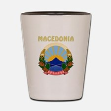 Macedonia Coat of arms Shot Glass