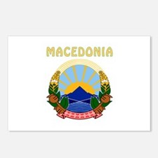 Macedonia Coat of arms Postcards (Package of 8)