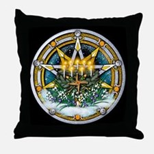 Imbolc Pentacle Throw Pillow
