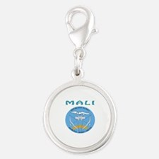Mali Coat of arms Silver Round Charm