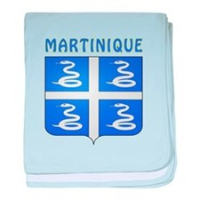 Martinique Coat of arms baby blanket