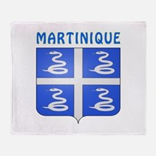 Martinique Coat of arms Throw Blanket