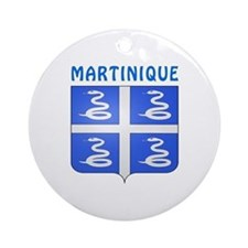 Martinique Coat of arms Ornament (Round)