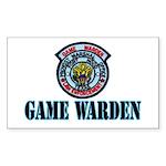Fort Hood Game Warden Rectangle Sticker