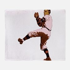 Old Time Baseball Pitcher Throw Blanket