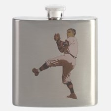 Old Time Baseball Pitcher Flask