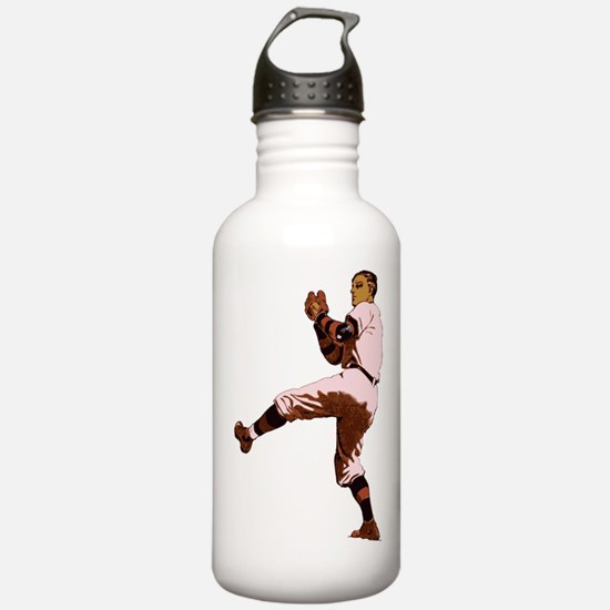 Old Time Baseball Pitcher Water Bottle