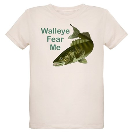 Walleye Fear Me Organic Kids T-Shirt