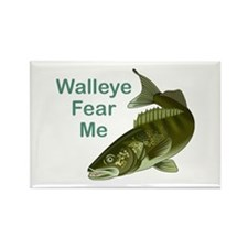 Walleye Fear Me Rectangle Magnet