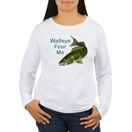 Walleye Fear Me Women's Long Sleeve T-Shirt
