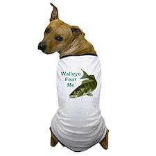 Walleye Fear Me Dog T-Shirt